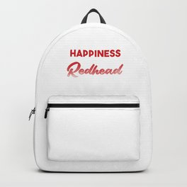 Redhead Happiness Red Hair Redheads Ginger Gift Backpack
