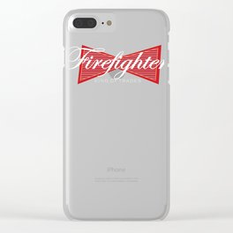 Funny Firefighter King of Trades Gift Clear iPhone Case