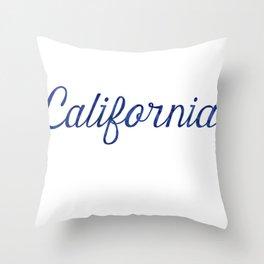 California Script Watercolor Throw Pillow