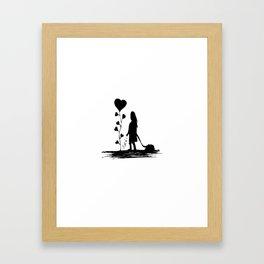 Sowing Love Concept Illustration Framed Art Print