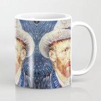 van gogh Mugs featuring Van Gogh  by klausbalzano