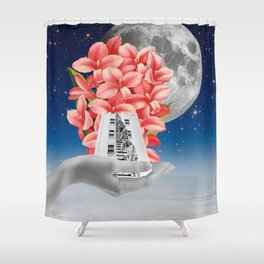 upon the palms of my hands Shower Curtain