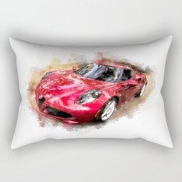 Watercolor car Rectangular Pillow