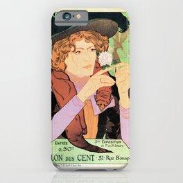 Art Nouveau Expo Salon des Cent Paris iPhone Case