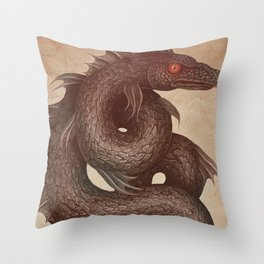 Gloucester Sea Serpent Throw Pillow