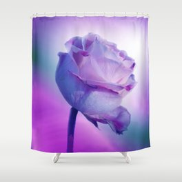 flowers on texture -100- Shower Curtain