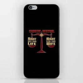 D&D - Chaotic Neutral iPhone Skin