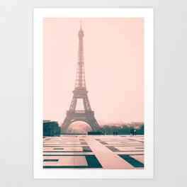 Eiffel tower in the early morning Art Print