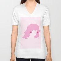 jem V-neck T-shirts featuring JEM by Tyler Pentland