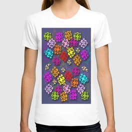 Stamped Flowers T-shirt