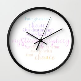 A Millions Worlds With You quote Fate Gives us a Chance book quote Wall Clock