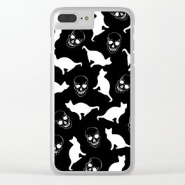 Skull Kats Clear iPhone Case