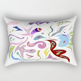 My pieces of invisible worlds II Rectangular Pillow