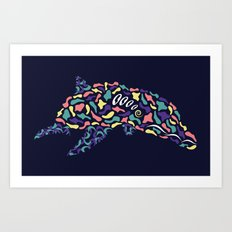 Abstract Dolphin Art Print