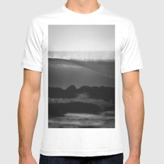 Evening Glass White Mens Fitted Tee MEDIUM