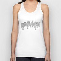 casablanca Tank Tops featuring Paris by S. L. Fina