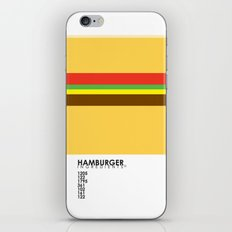 Pantone Food - Hamburger iPhone & iPod Skin