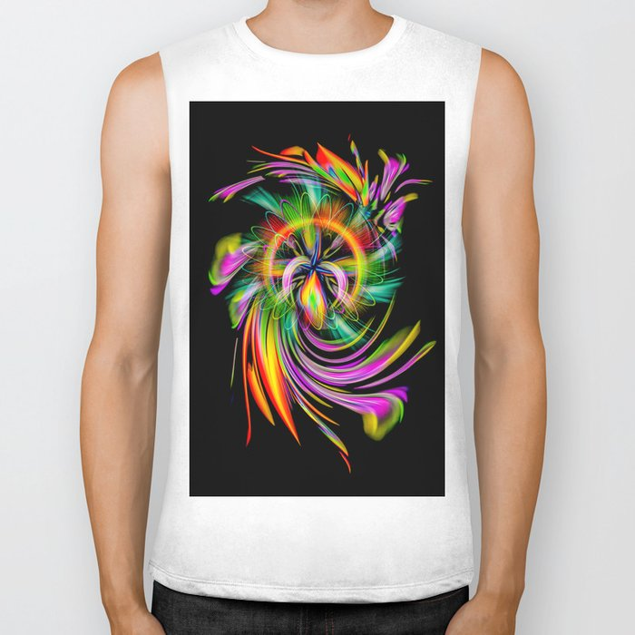 Abstract Perfection 40 Biker Tank