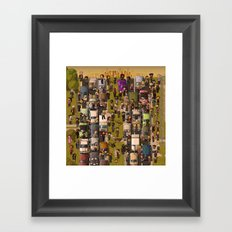 Super Walking Dead: Highway Framed Art Print