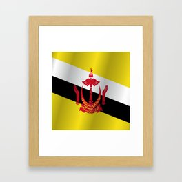 Flag of Brunei Framed Art Print