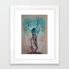 Symbiotic Synapses Framed Art Print