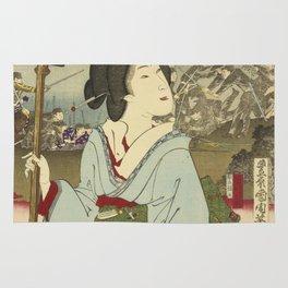 Toyohara Kunichika - Geisha Rug