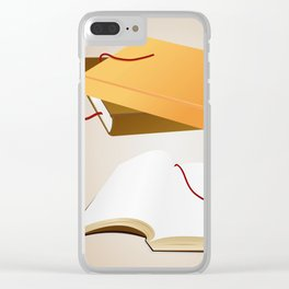 Books with background Clear iPhone Case