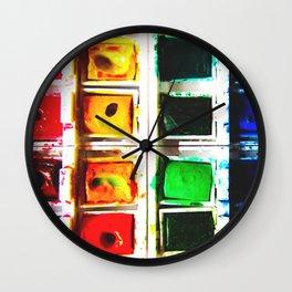 Watercolor Pallette Wall Clock