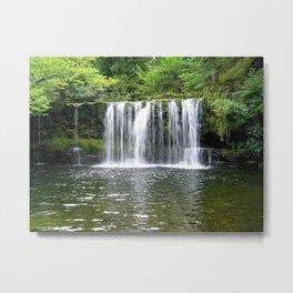 Waterfall Sgwd Ddwli Uchaf  Metal Print