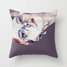 Gasa girl Throw Pillow