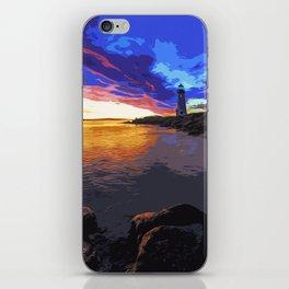 Walton lighthouse, California at sunset iPhone Skin