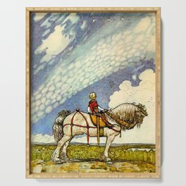 """Out Into the Wide World"" by John Bauer Serving Tray"