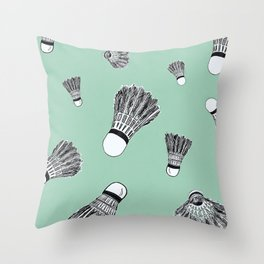 WHO WANTS TO PLAY BADMINTON? - MINT Throw Pillow