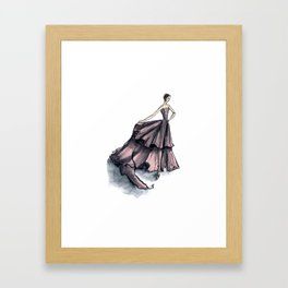 Audrey Hepburn in Pink dress vintage fashion Framed Art Print