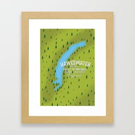 Haweswater, lake district England travel poster Framed Art Print