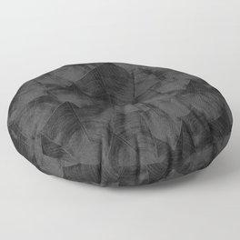 Banana Leaf Black & White I Floor Pillow