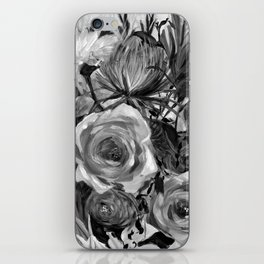 Bella Rose Black and White iPhone Skin