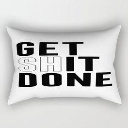 Get Shit Done, Wall Art Rectangular Pillow
