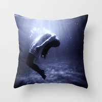 underwater Throw Pillows featuring Underwater by EclipseLio