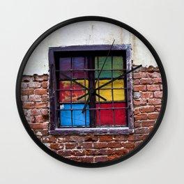 Window of Many Colors Wall Clock