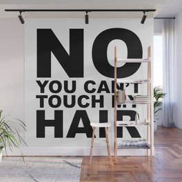 No You Can't Touch My Hair Wall Mural