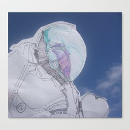 The humblest of the chief astronauts Canvas Print