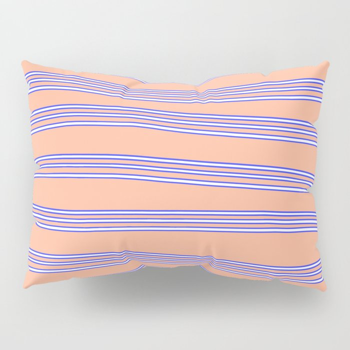 Blue lines Pillow Sham