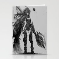 knight Stationery Cards featuring knight by ururuty