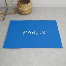 Paris 2 blue Rug
