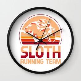 Sloth running team - sloth, joggers Wall Clock