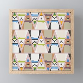 A Sleuth of Bears (Patterns Please) Framed Mini Art Print