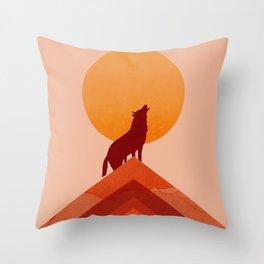 Abstraction_Midnight_Summer_Wolf_Moon_001 Throw Pillow
