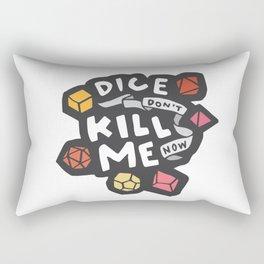 Dice Don't Kill Me Now - Sunset Rectangular Pillow
