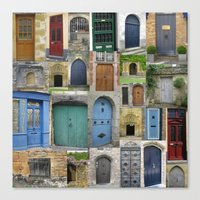 doors Canvas Prints featuring doors by Cathy Jacobs
